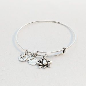Alex and Ani Silver Lotus Blossom Bracelet